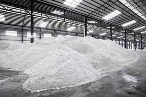 Paper mill's paper-making raw materials photo