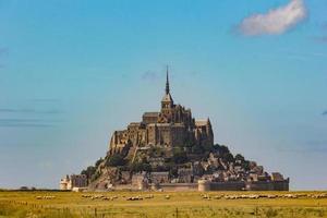 Mont saint michel in france photo