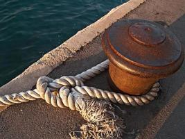 Quay and a rope
