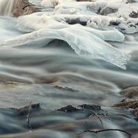 Creek Ice Formation