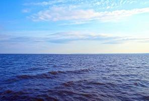 Marine ripples on a sunny day photo