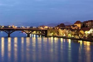 Maribor in Slovenia at night