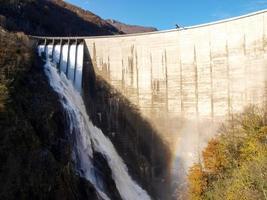 Dam of Contra Verzasca, spectacular waterfalls photo
