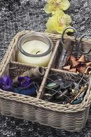 sewing tools and decorations photo