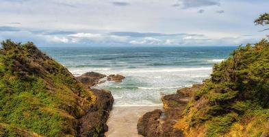 características geológicas costeras en la costa de oregon