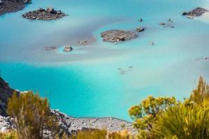 Emerald Lake, Mount Cook National Park, New Zealand photo