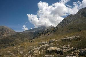The steppe and the clouds photo