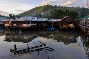 Small Nipa Homes and a Broken Raft on The Black