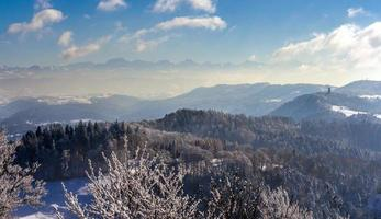 View of the Alps from Zurich - Switzerland