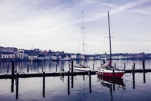 Flensburg harbour in Germany