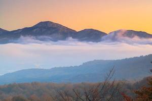 montañas y nubes