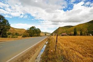 Auto background, plateau highway photo