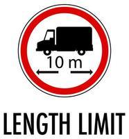 límite de longitud aislado sobre fondo blanco