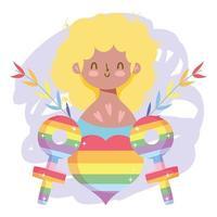 personaje lgbtqi de dibujos animados para la celebración del orgullo