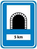 Signo de túnel aislado sobre fondo blanco.