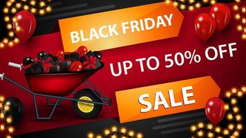 Black Friday red discount banner