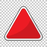 Banner de tráfico rojo vacío sobre fondo transparente