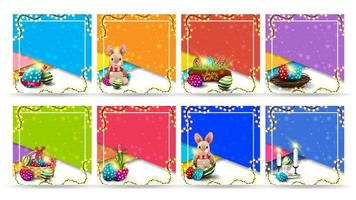 Collection of Easter square templates vector