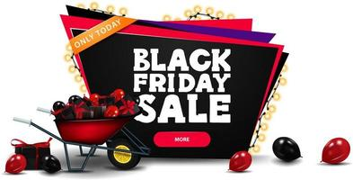 Black Friday discount banner vector