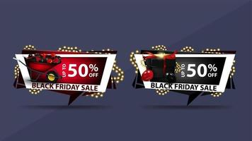 Set of Black Friday discount banners