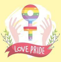 composición lgbtqi de dibujos animados para la celebración del orgullo