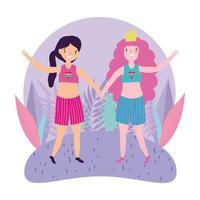 personajes lgbtqi de dibujos animados para la celebración del orgullo vector