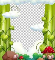 Nature elements frame with transparent background