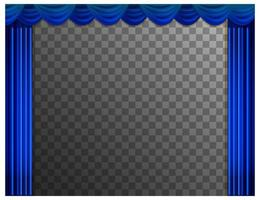 Blue curtains with transparent background