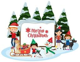 Isolated Merry Christmas banner vector