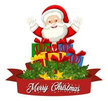 feliz navidad fuente santa claus