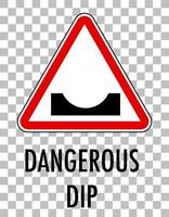 Red traffic sign on transparent background
