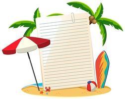 papel en blanco no plantilla tema de verano