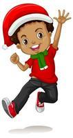 chico lindo en traje de navidad personaje de dibujos animados