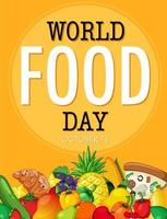 World food day banner vector