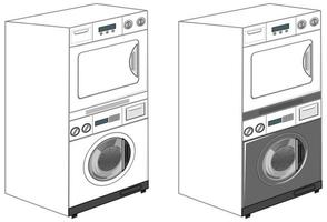 Washing machines isolated on white background
