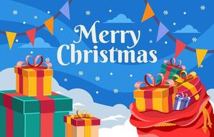 Giftbox for Christmas Background vector