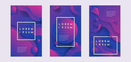 Fluid shapes composition with trendy gradients