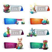 Set of Easter discount banners