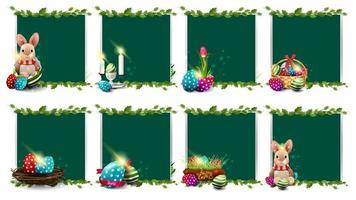 Collection of Easter templates with Easter icons vector
