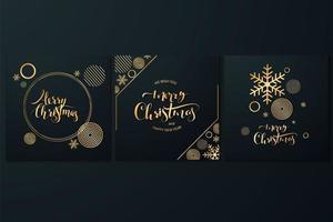 Merry christmas card set vector