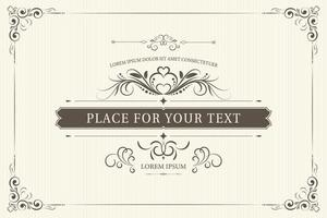 Vintage Ornament Certificate Template vector