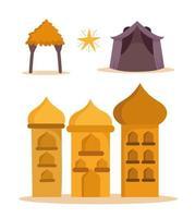 Cute Nativity cartoon set