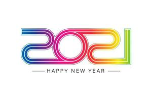 Happy new 2021 year Elegant gold text with light