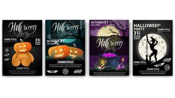 Halloween party, large set party posters ready to print.