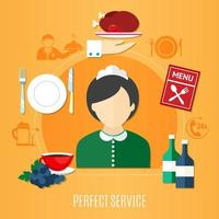 concepto de servicio de restaurante vector