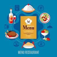 concepto de menú de restaurante vector