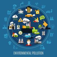 Environmental Pollution Concept vector