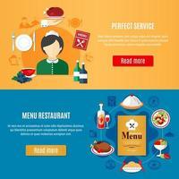 Restaurant Banner Set vector