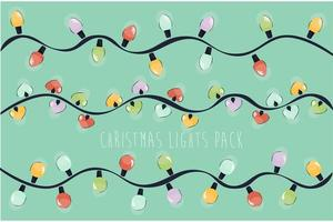 Christmas Lights Pack vector