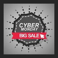 banner de venta de cyber monday vector